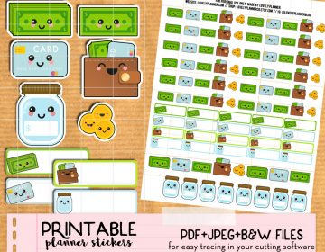 etsy kawaii money stickers LP