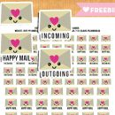 Kawaii Happy Mail Envelope Stickers – FREE Printable