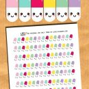 FREE Kawaii Pills Planner Stickers – Printable and cut files