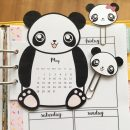Panda Calendar Divider + Paperclips for your planner – Free Printable