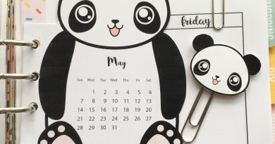 Panda Calendar Divider + Paperclips for your planner - Free Printable