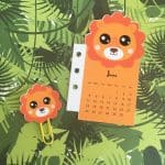 Lion Calendar Divider + Paperclip for your planner