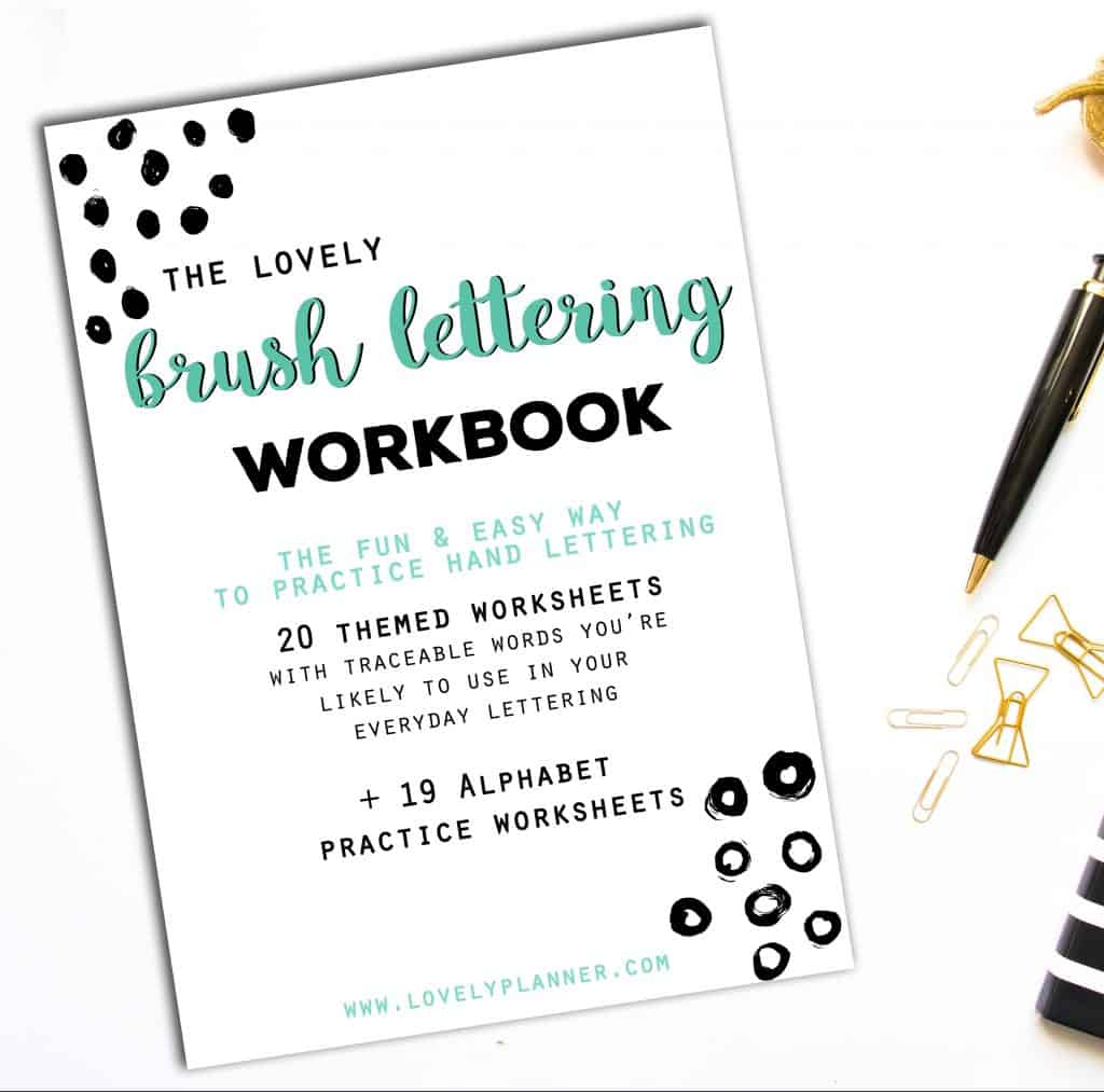 40 Hand Lettering Worksheets For Planners TNs Bujos Crafts Enthusiasts