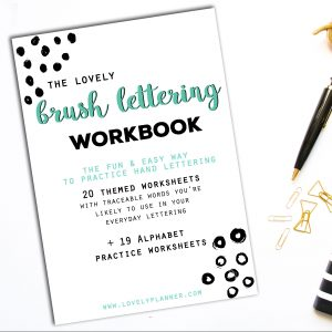 40 Hand Lettering Worksheets for Planners, TNs, Bujos & crafts enthusiasts - For Print or Procreate App