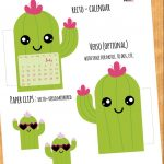 Cute Cactus Calendar Divider + Paperclip for your planner - Free Printable