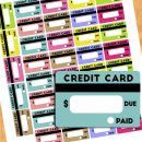 Free Credit Card Bill Reminder Stickers – Printable & Cut File