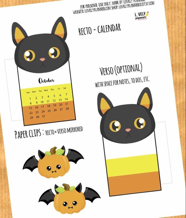 Halloween Cat Planner Divider