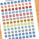 FREE Social Media Icons Planner Stickers