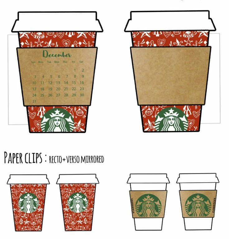 Christmas Coffee Cups Planner Divider