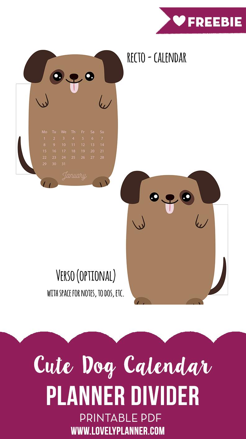Free Printable Dog Planner Divider