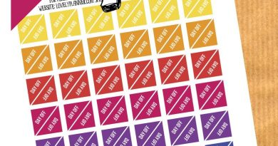 FREE Functional Planner Stickers : DAY OFF stickers