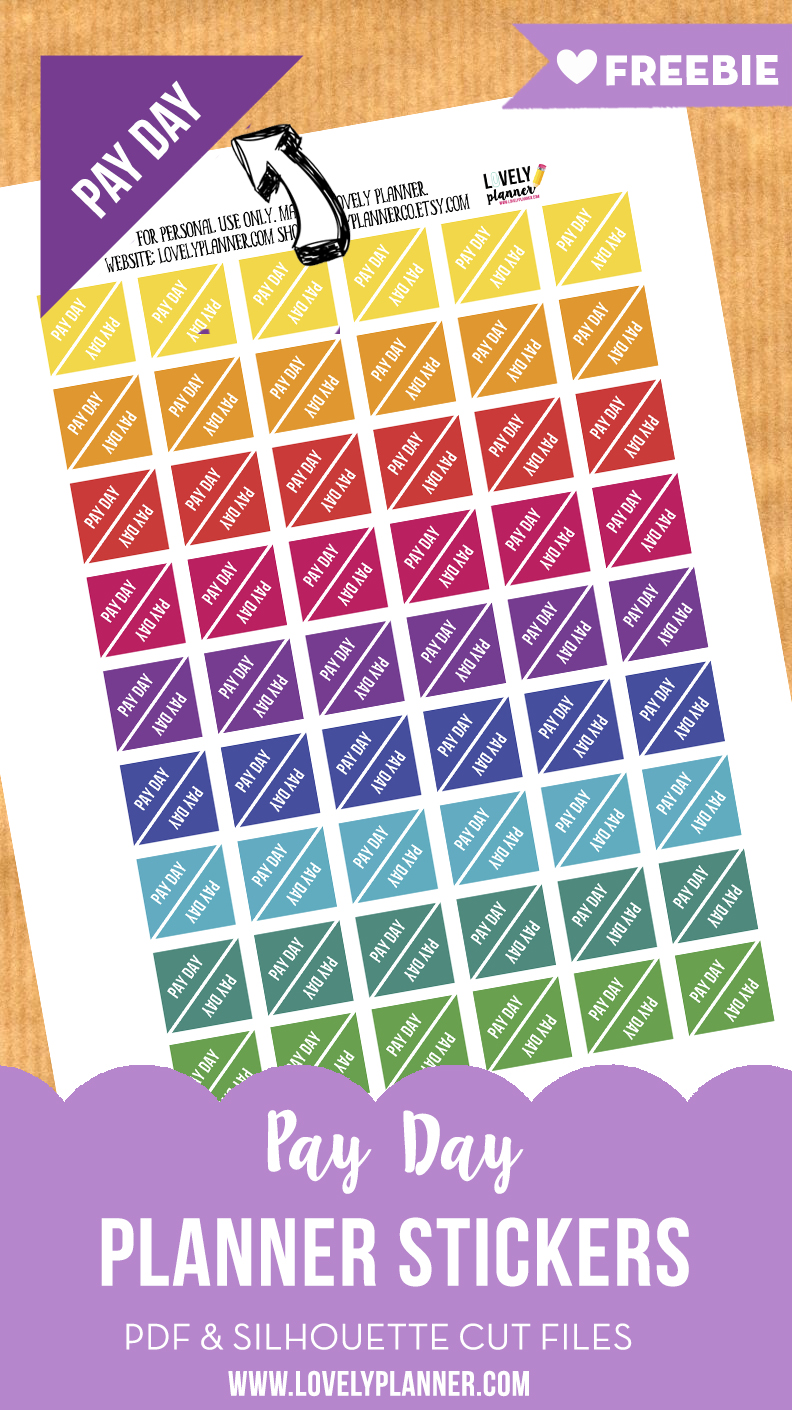 image regarding Free Printable Functional Planner Stickers identified as No cost Useful Planner Stickers : Pay back Working day stickers - Stunning