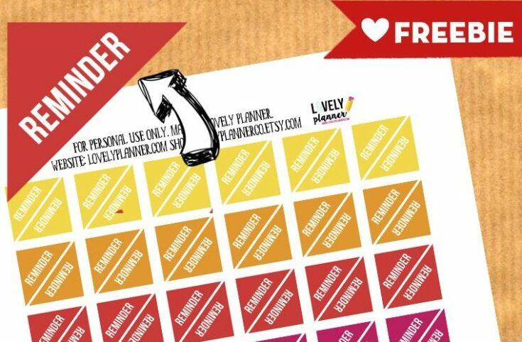 FREE Functional Planner Stickers : REMINDER stickers