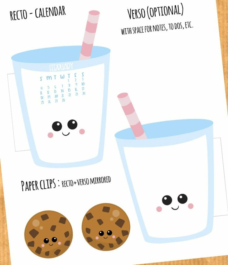 Milk and Cookies Planner Divider