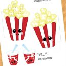 FREE Pop Corn and Soda Calendar Divider + Paperclip – April 2018