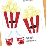 FREE Pop Corn and Soda Calendar Divider + Paperclip