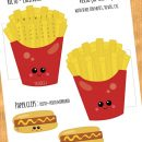 FREE French Fries and Hot Dog Calendar Divider + Paperclip – March 2018
