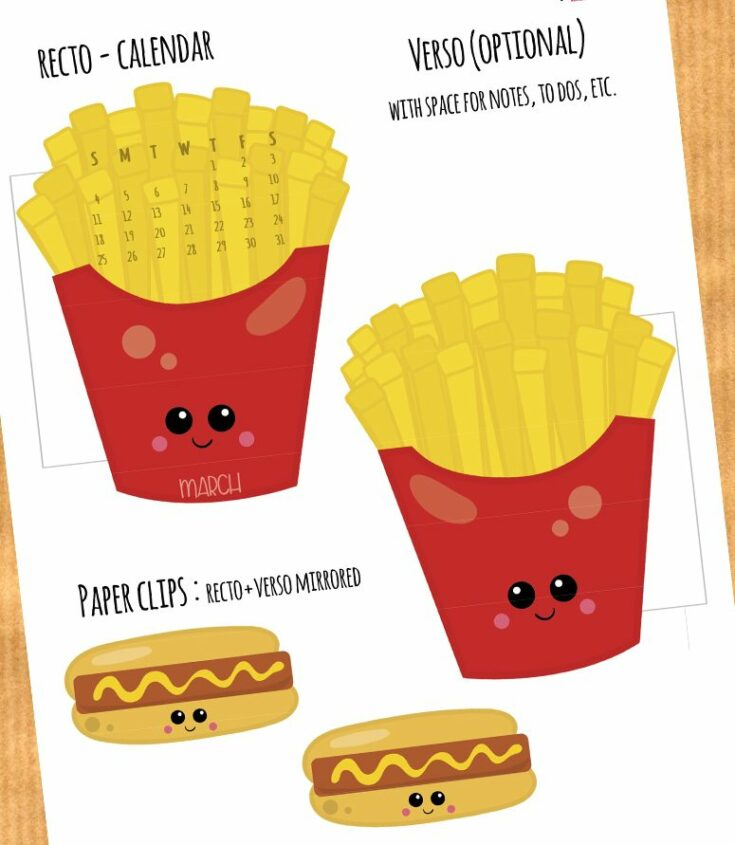 French Fries and Hot Dog Planner Divider