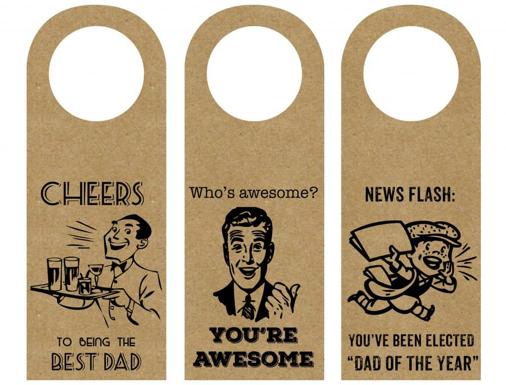 Free Printable Wine Bottle Gift Tag for Father's day or any other day