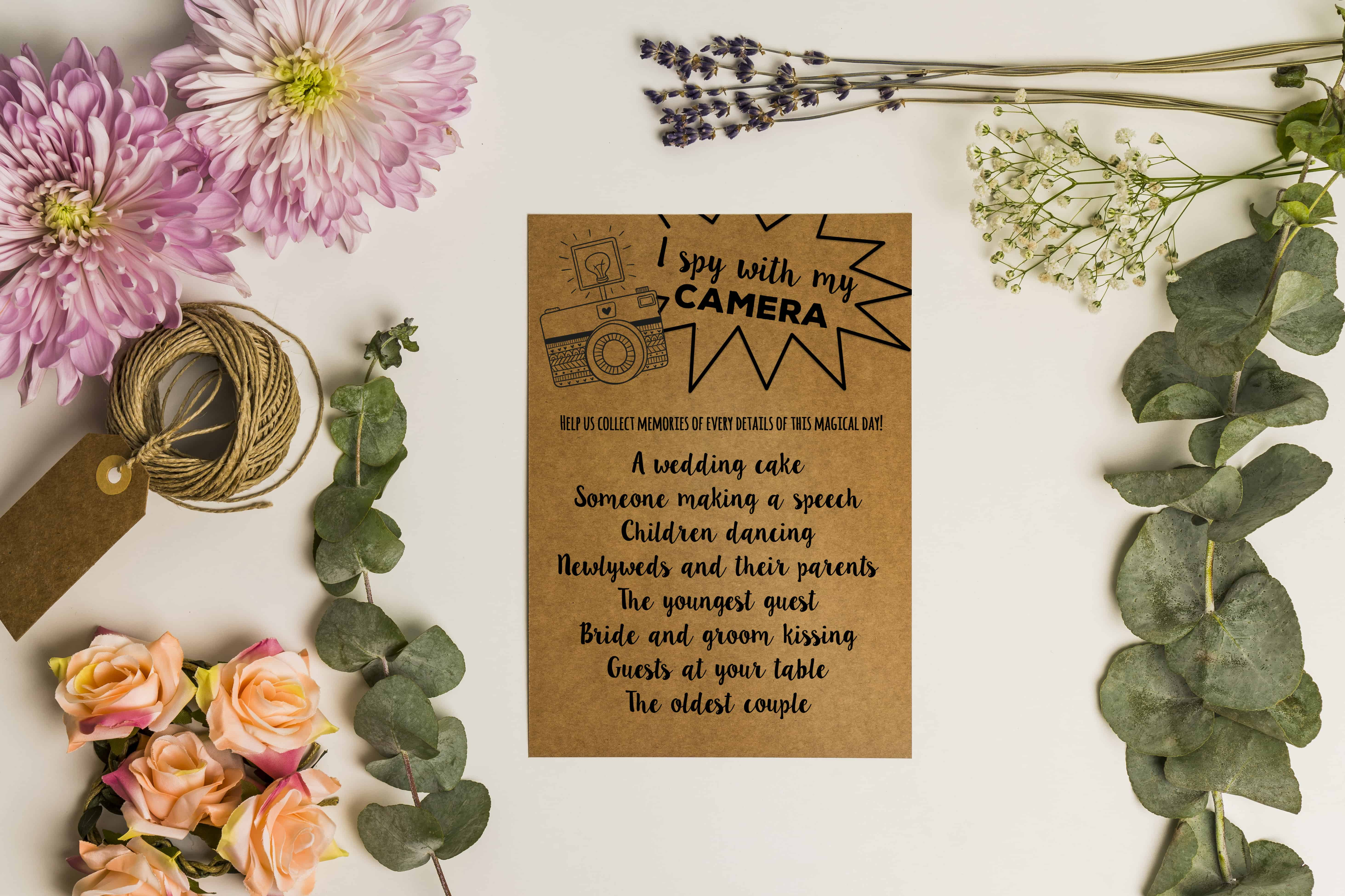 This Wedding Scavenger Hunt Printable Can Be Used During Your Celebration