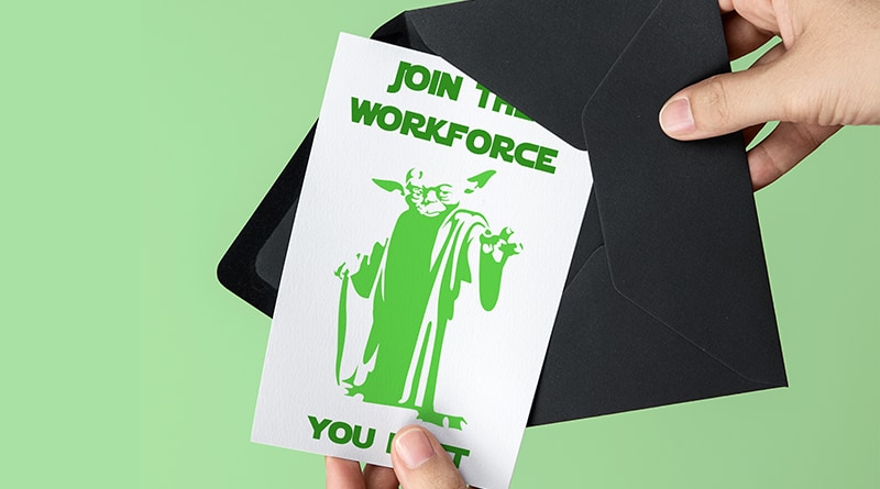 picture about Star Wars Printable Card called Free of charge Printable Star Wars Commencement Card - Yoda - Beautiful Planner