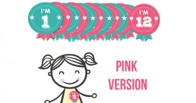 Free Printable Birthday Badges - Milestone Stickers PINK Version