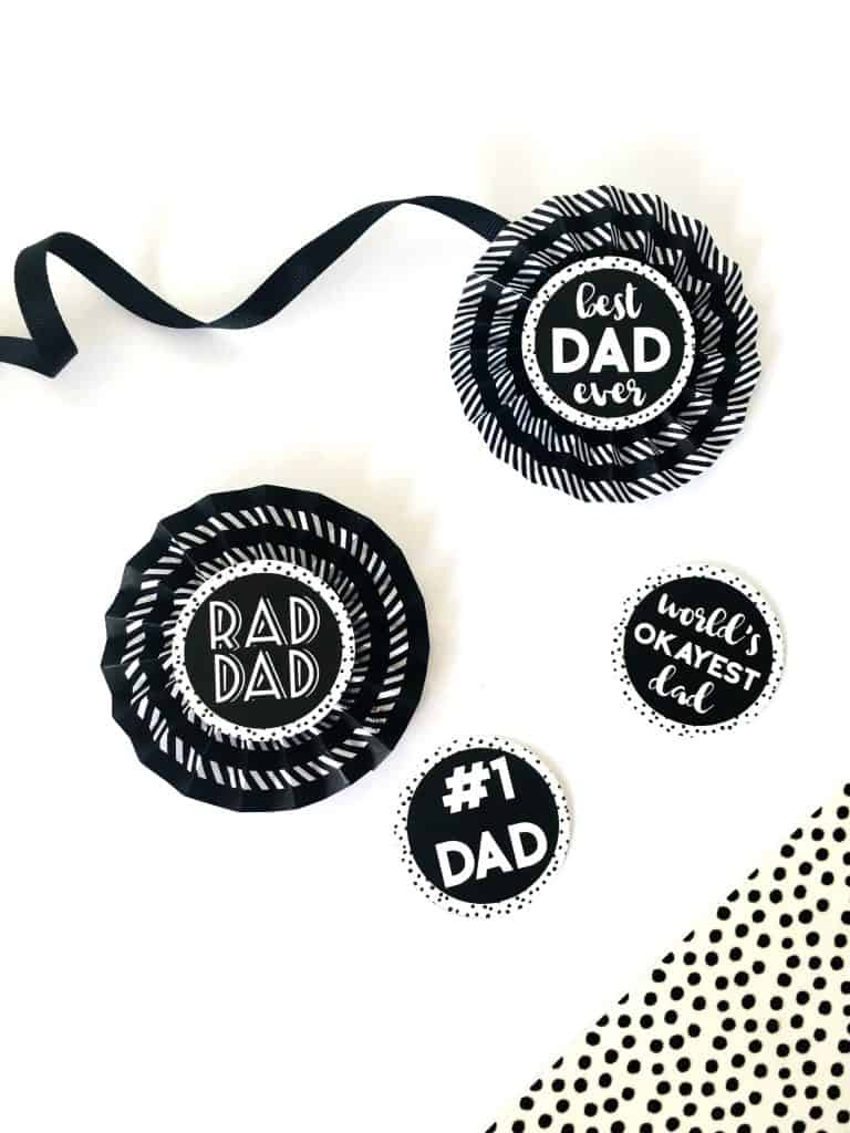 image regarding Printable Award Ribbons titled Do-it-yourself Paper Award Ribbons for Fathers Working day - Cost-free PRINTABLE