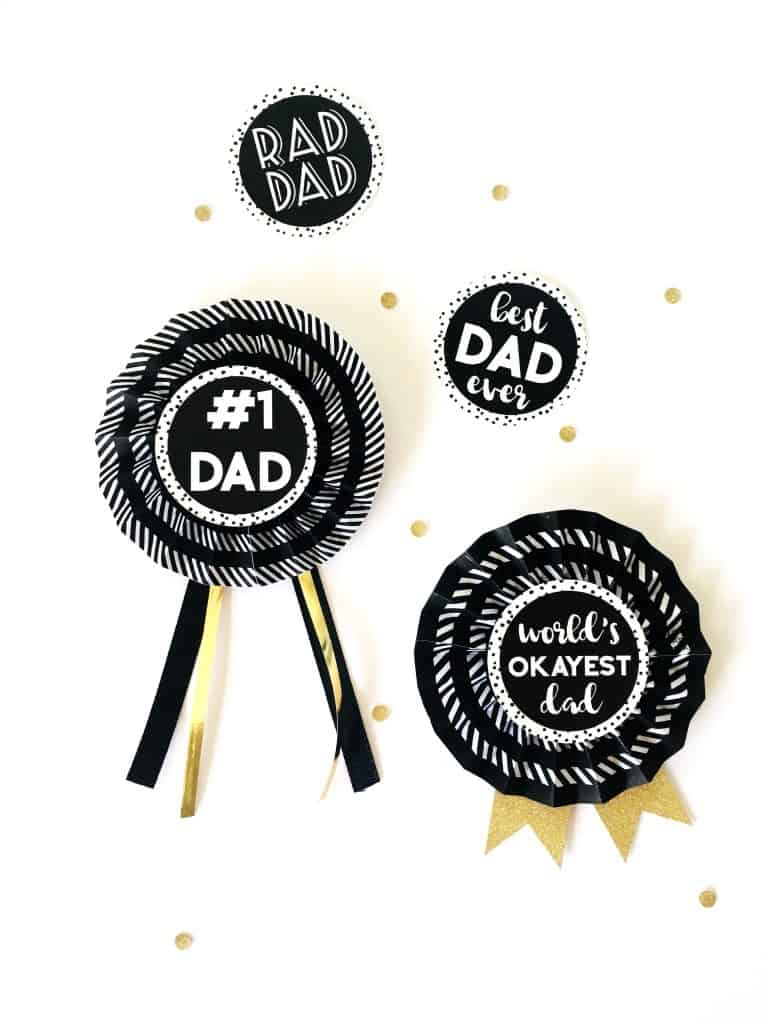 image relating to Printable Award Ribbons identify Do it yourself Paper Award Ribbons for Fathers Working day - Totally free PRINTABLE