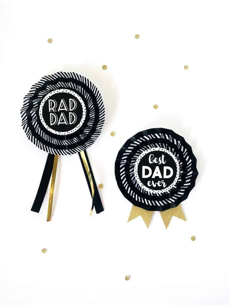 FREE PRINTABLE Easy DIY Paper Reward Ribbons for Fathers Day #kidscraft #papercraft #freeprintable #fathersday #rewardribbons