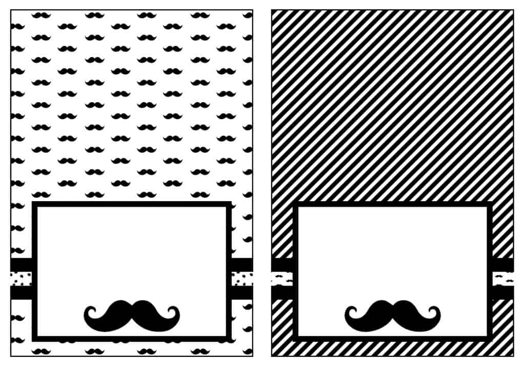 graphic about Free Mustache Printable referred to as Mustache Social gathering Cost-free Printable Meals Tents or House Playing cards