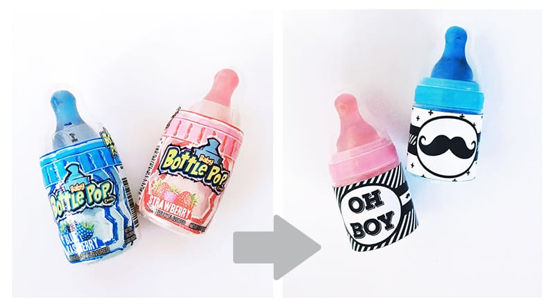 Diy Baby Bottle Pops Party Favors With Free Printable Labels