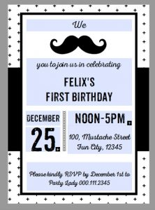 image about Free Printable Mustache Baby Shower Invitations named Totally free Printable Mustache Social gathering Invites - Blank Editable
