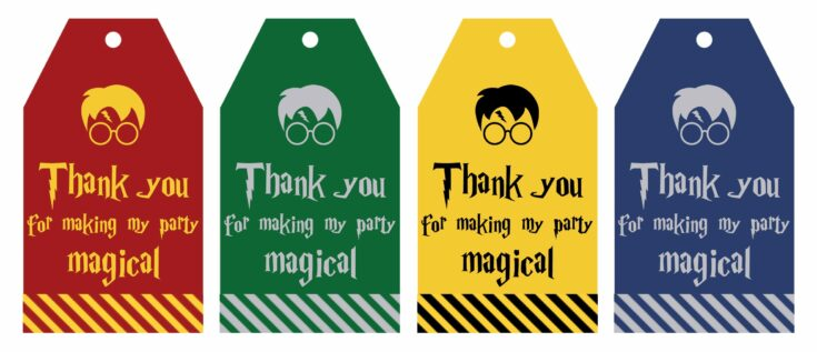 Free Printable Harry Potter Party Favor Gift Tags