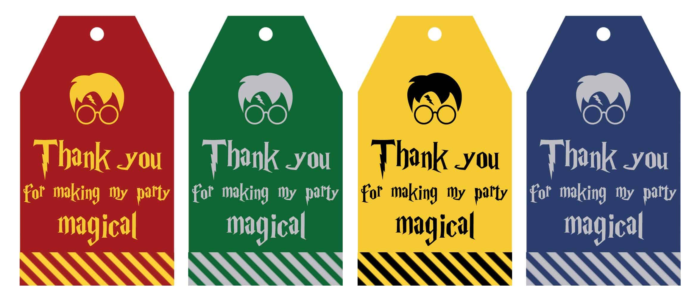 photo regarding Thank You Gift Tags Printable called Free of charge Printable Harry Potter Social gathering Want Present Tags - Beautiful
