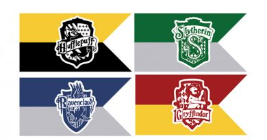Free Printable Hogwart's Houses Flags for your Harry Potter Party decoration. Just add a wooden dowel to each, or string to create a banner. #harrypotter #harrypotterparty #halloween #party #partydecor #banner #freeprintable
