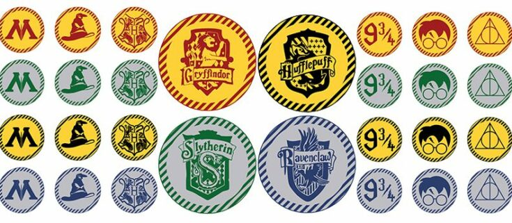 Free Printable Harry Potter Cupcake toppers