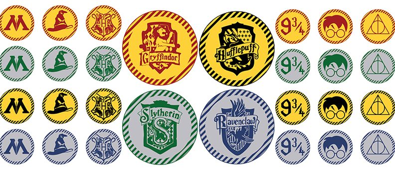Free Printable Harry Potter Cupcake Toppers 2 Party Circles To Decorate Your Cupcakes For