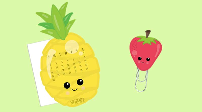 image regarding Printable Pineapple known as Absolutely free Printable Pineapple Calendar Divider + Paperclip