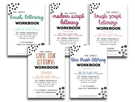 2 Free Fall & Thanksgiving Lettering Worksheets to celebrate