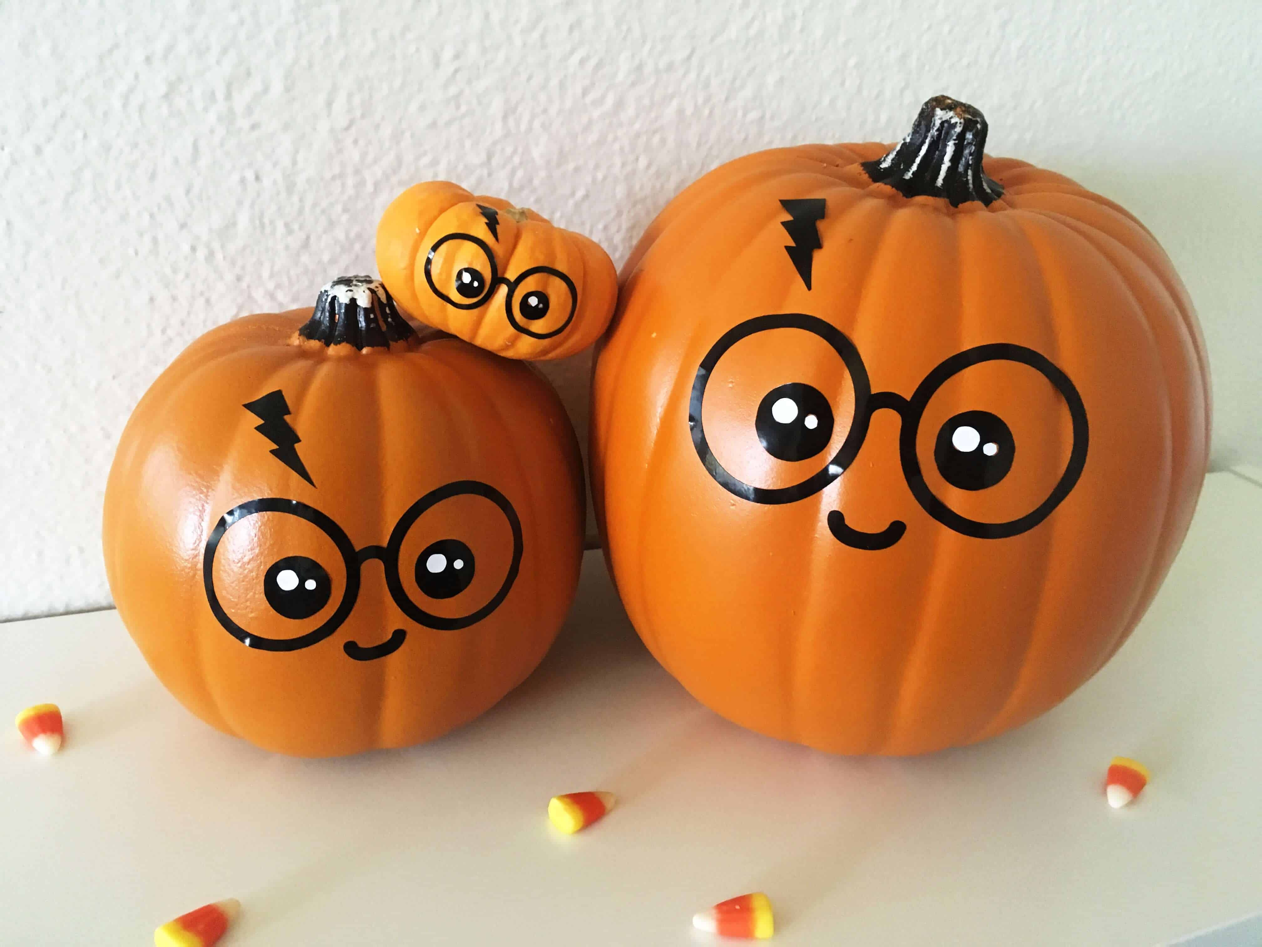 easy diy kawaii harry potter no carve pumpkin for halloween with