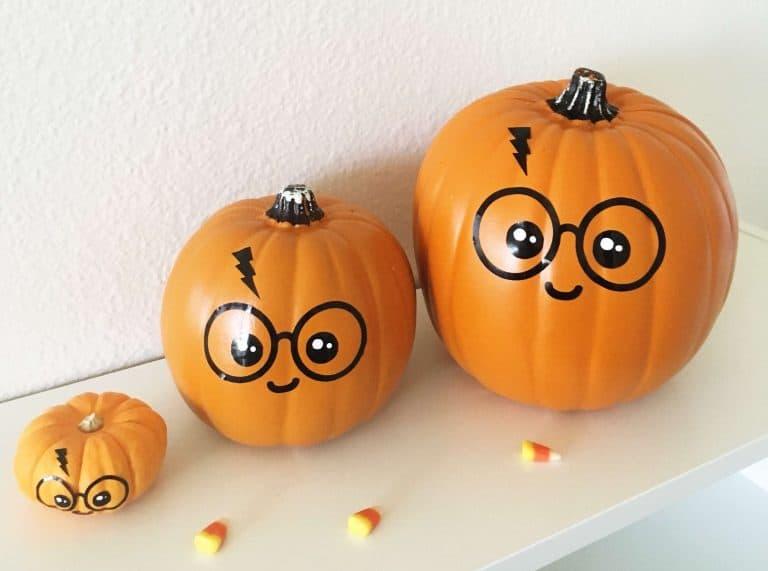 Cute Amp Easy Diy No Carve Harry Potter Pumpkin Free Svg