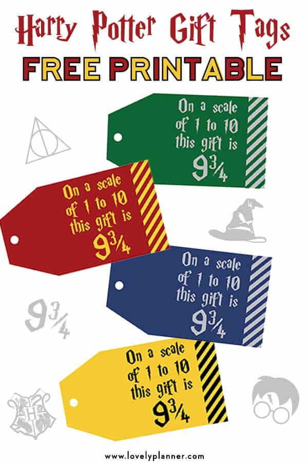 picture about Platform 9 3 4 Sign Printable referred to as absolutely free printable Harry Potter Reward Tags System 9 3/4