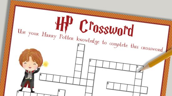 Free Printable Harry Potter Crossword Puzzle