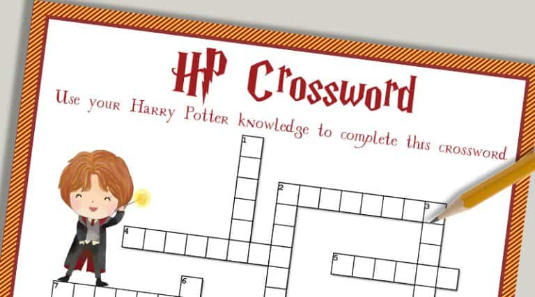 photo regarding Harry Potter Crossword Puzzle Printable called Absolutely free Printable Harry Potter Crossword Puzzle - Stunning Planner