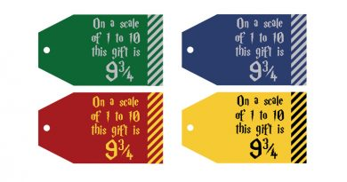 Free Printable Harry Potter Gift Tags: On a scale of 1 to 10 this gift is 9 3/4