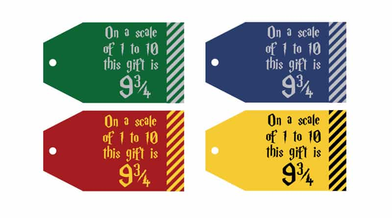 photo regarding Gift Tags Printable named Cost-free Printable Harry Potter Present Tags: Upon a scale of 1 toward 10