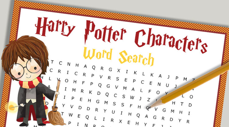 Free Printable Harry Potter Characters Word Search Puzzle
