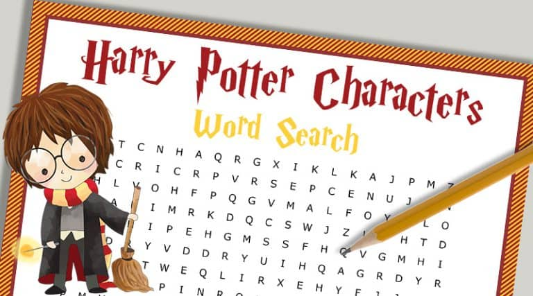 photo relating to Harry Potter Activities Printable identify Free of charge Printable Harry Potter People Term Glance Puzzle