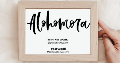 Alohomora Harry Potter Free Printable Wifi Password Sign to make your guests feel welcome and decorate your home with fun details. Perfect for Harry Potter lovers! #home #freeprintable #wifi #wallart #guest #decor #lovelyplanner