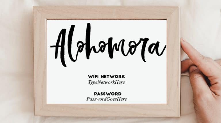 graphic relating to Printable Wifi Sign named Alora\